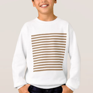 Thin Stripes - White and Pale Brown Sweatshirt