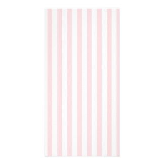 Thin Stripes - White and Pale Pink Custom Photo Card