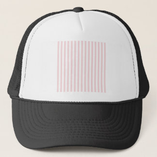 Thin Stripes - White and Pale Pink Trucker Hat