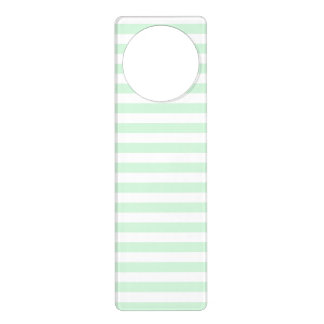 Thin Stripes - White and Pastel Green Door Hanger