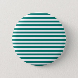 Thin Stripes - White and Pine Green 6 Cm Round Badge