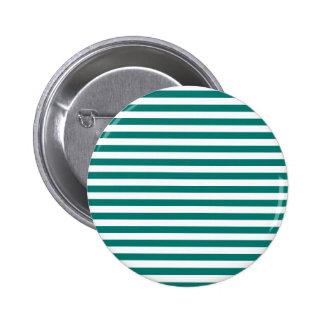 Thin Stripes - White and Pine Green 6 Cm Round Badge
