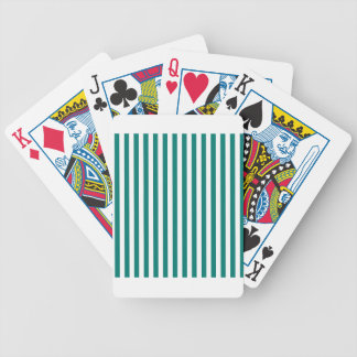 Thin Stripes - White and Pine Green Bicycle Playing Cards