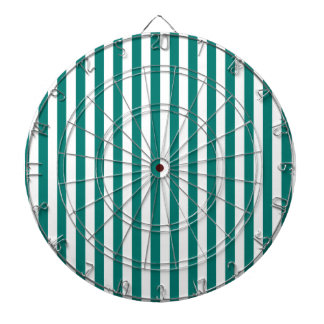 Thin Stripes - White and Pine Green Dartboard