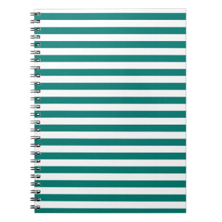 Thin Stripes - White and Pine Green Notebooks