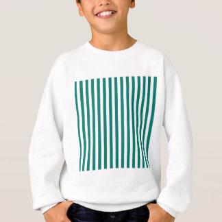 Thin Stripes - White and Pine Green Sweatshirt