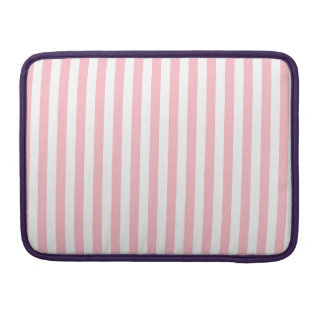 Thin Stripes - White and Pink Sleeve For MacBooks