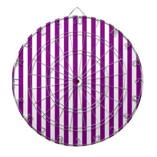 Thin Stripes - White and Purple Dartboard