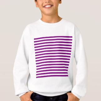 Thin Stripes - White and Purple Sweatshirt