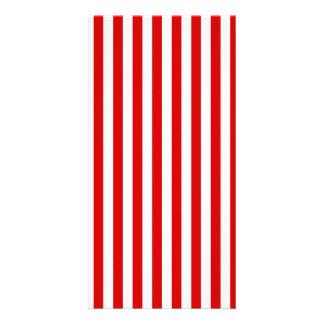 Thin Stripes - White and Rosso Corsa Custom Photo Card