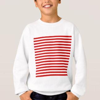 Thin Stripes - White and Rosso Corsa Sweatshirt