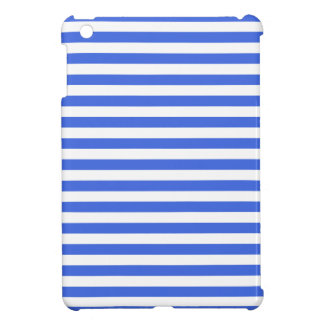 Thin Stripes - White and Royal Blue Case For The iPad Mini