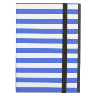 Thin Stripes - White and Royal Blue Cover For iPad Air