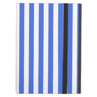 Thin Stripes - White and Royal Blue iPad Air Cover