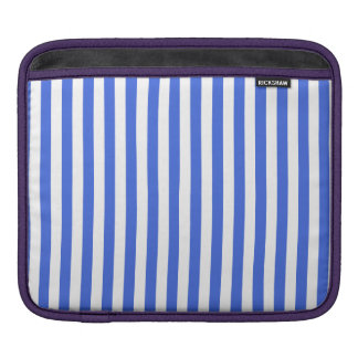 Thin Stripes - White and Royal Blue iPad Sleeve