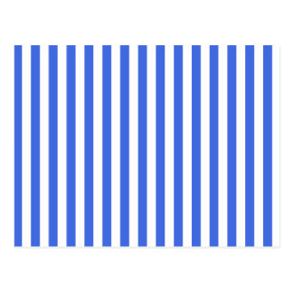 Thin Stripes - White and Royal Blue Postcard