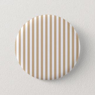 Thin Stripes - White and Tan 6 Cm Round Badge