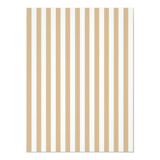 Thin Stripes - White and Tan Card