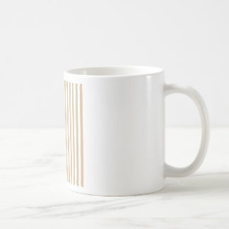 Thin Stripes - White and Tan Coffee Mug