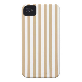 Thin Stripes - White and Tan iPhone 4 Covers