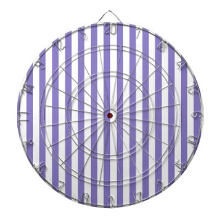 Thin Stripes - White and Ube Dartboard