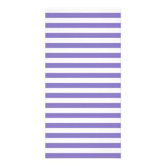 Thin Stripes - White and Ube Photo Card