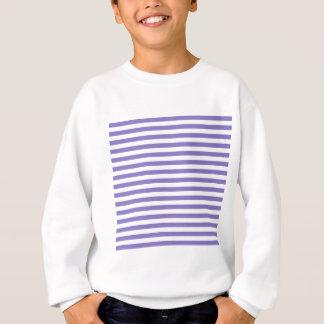 Thin Stripes - White and Ube Sweatshirt