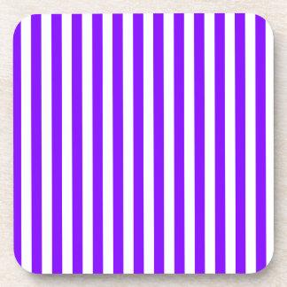 Thin Stripes - White and Violet Coaster