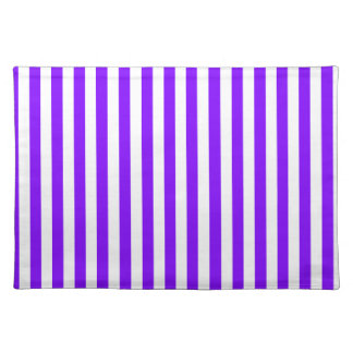 Thin Stripes - White and Violet Placemat