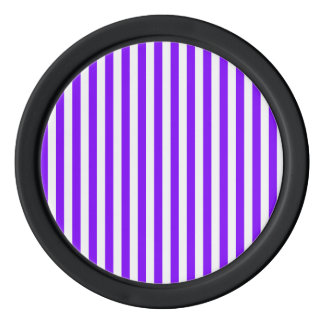 Thin Stripes - White and Violet Poker Chips