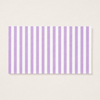 Thin Stripes - White and Wisteria Business Card