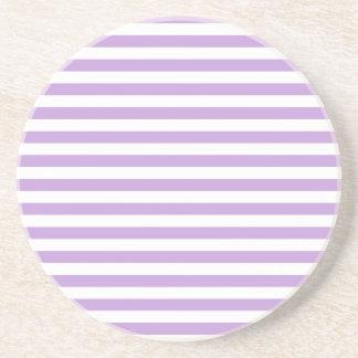 Thin Stripes - White and Wisteria Coaster