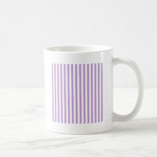 Thin Stripes - White and Wisteria Coffee Mug