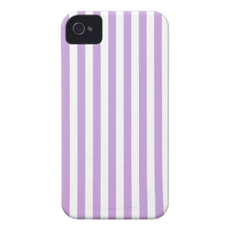 Thin Stripes - White and Wisteria iPhone 4 Case-Mate Cases
