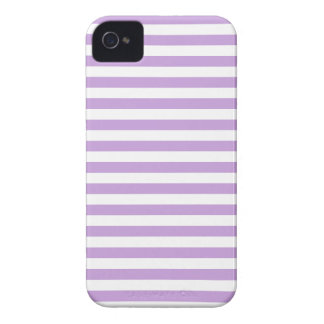 Thin Stripes - White and Wisteria iPhone 4 Cover