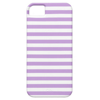 Thin Stripes - White and Wisteria iPhone 5 Case