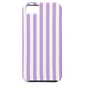 Thin Stripes - White and Wisteria iPhone 5 Covers