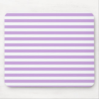 Thin Stripes - White and Wisteria Mouse Pad