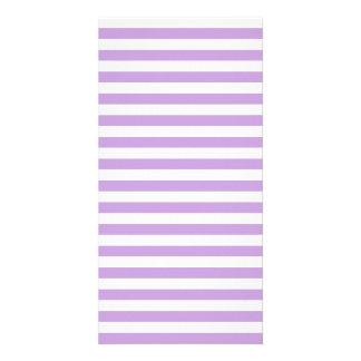 Thin Stripes - White and Wisteria Photo Card