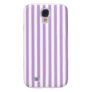 Thin Stripes - White and Wisteria Samsung Galaxy S4 Case