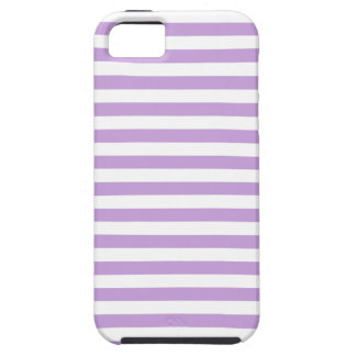 Thin Stripes - White and Wisteria Tough iPhone 5 Case