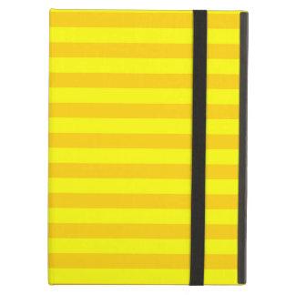 Thin Stripes - Yellow and Dark Yellow iPad Air Cover