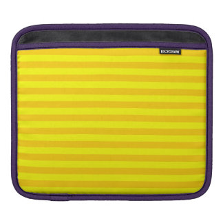 Thin Stripes - Yellow and Dark Yellow iPad Sleeve