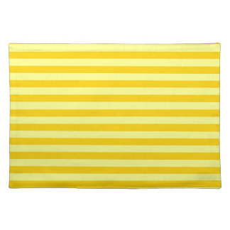 Thin Stripes - Yellow and Dark Yellow Place Mats