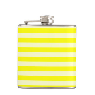 Thin Stripes - Yellow and Light Yellow Hip Flask