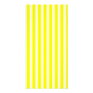 Thin Stripes - Yellow and Light Yellow Photo Card