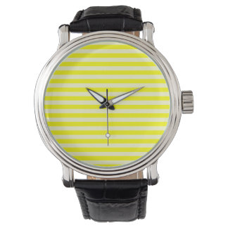 Thin Stripes - Yellow and Light Yellow Watch