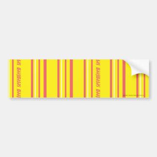 Thin Stripes Yellow Bumper Sticker