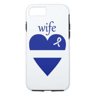 Thin White Line EMT Wife Heart iPhone 7 Case