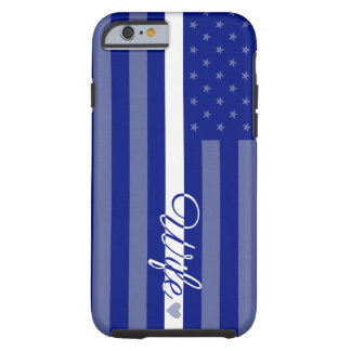 Thin White Line Wife Flag EMT iPhone 6 Case